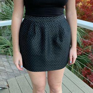 Jack Wills Black Holiday Snowflake Skirt